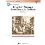 English Songs: Renaissance to Baroque (Bk/Audio) - High Voice and Piano
