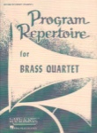 Program Repertoire for Brass Quartet - 2nd Cornet/Trumpet (2nd Part)