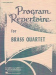 Program Repertoire for Brass Quartet - F Horn (3rd Part)