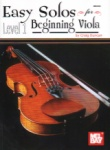 Easy Solos for Beginning Viola, Level 1 - Viola and Piano