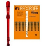 MPI Prism Red Recorder & It's Recorder Time Book