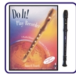 Brown Tudor Recorder & Do It Recorder Book/CD