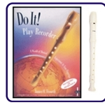White Tudor Recorder & Do It Recorder Book/CD