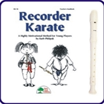 White Tudor Recorder & Recorder Karate Book