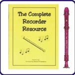 Purple Candy Apple Recorder & Complete Recorder Resource Book