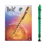 Candy Apple 2-pc Green Recorder & Do It! Book and CD