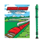 Candy Apple 2-pc Green Recorder & Recorder Express Book