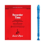 Candy Apple 2-pc Blue Recorder & Recorder Time Book