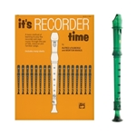 Candy Apple 2-pc Green Recorder & It's Recorder Time Book