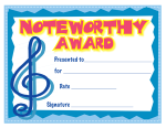 Noteworthy Award Certificates