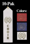 Choir Award Ribbon - WHITE 10 Pak