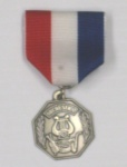 Orchestra Medal Silvertone Attached Red/White/Blue Pin Drape