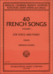 40 French Songs, Vol. 1 - High Voice and Piano