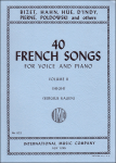 40 French Songs, Vol. 2 - High Voice and Piano