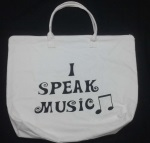 """I Speak Music"" Canvas Bag"