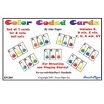 Set of 7 Color Coded Cards for 8 Note Handbells