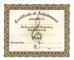 Achievement Certificates - Band