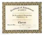 Achievement Certificates - Chorus