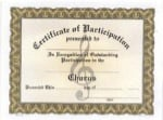 Participation Certificates - Chorus