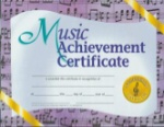 Music Achievement Certificates VA536