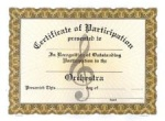 Participation Certificates - Orchestra