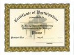 Participation Certificates - Piano