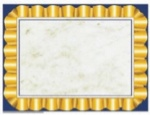 Blank Certificates with Gold Border