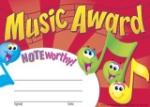 Noteworthy Award Certificates (5.5 In. x 8.5 In.)