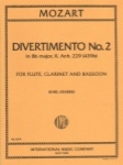 Divertimento No. 2 in Bb Major, K. 439b - Flute, Clarinet, and Bassoon