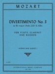 Divertimento No. 3 in B-flat Major, K. 439c - Flute, Clarinet, and Bassoon