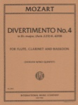 Divertimento No. 4 in B-flat Major, K. 439b - Flute, Clarinet, and Bassoon