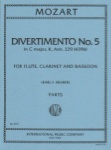 Divertimento No. 5 in C Major, K. 439b - Flute, Clarinet, and Bassoon