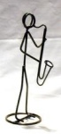 Bass Clarinet Stickman Sculpture