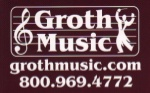 Groth Music Large Sticker