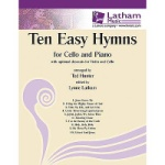10 Easy Hymns - Cello and Piano (with Optional Violin)