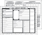 All About Music Activity Posters