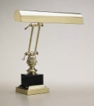 House of Troy Brass/Black Marble Piano Lamp