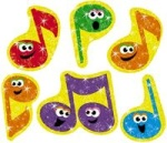 Merry Music Note Stickers