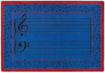 Fully Staffed Classroom Music Rug - 5 Ft 4 In x 7 Ft 8 In Blue