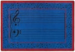 Fully Staffed Classroom Music Rug - 7 Ft 8 In x 10 Ft 9 In Blue
