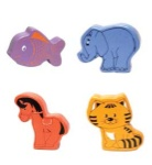 Wooden Animal Shakers