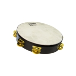 "10"" SX Double Row Tambourine - Brass Jingles - Synthetic Head"