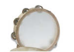 "First Note Budget Tambourine 10"" With Skin Head"