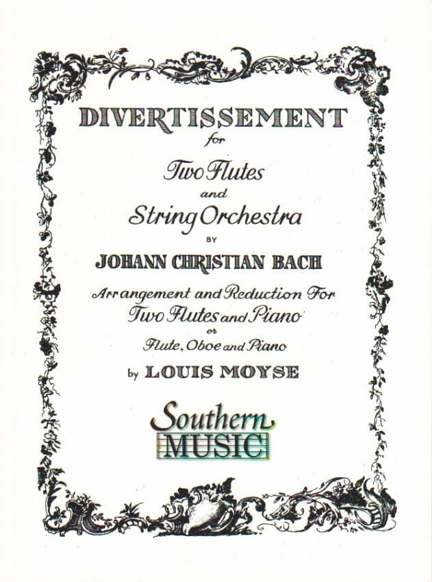 Divertissement for Two Flutes and Orchestra - Flute Duet and Piano