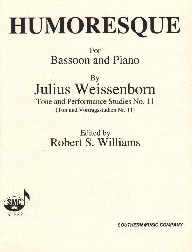 Humoresque Op. 9 No. 2 - Bassoon and Piano