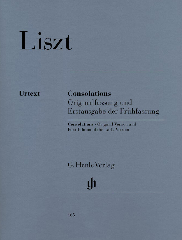 Consolations (Original Version and First Edition of Early Version) - Piano