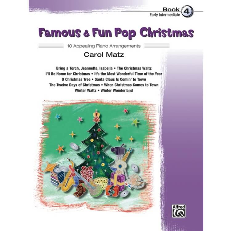 Famous and Fun: Pop Christmas, Book 4 - Piano