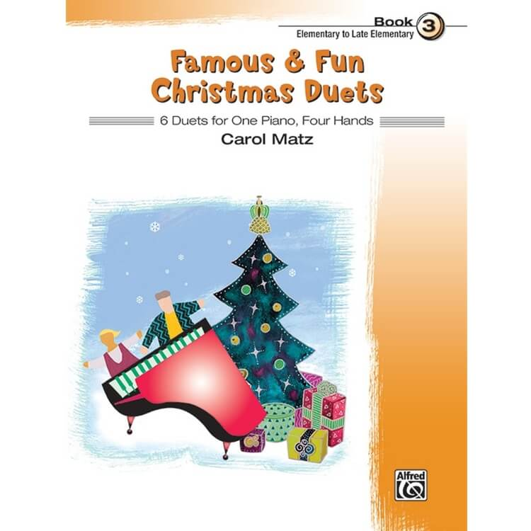 Famous and Fun: Christmas Duets, Book 3 - 1 Piano 4 Hands