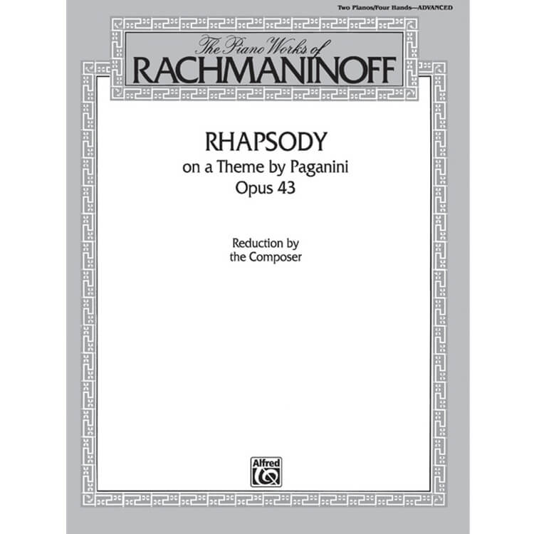 Rhapsody on a Theme by Paganini, Op. 43 - Piano Concerto