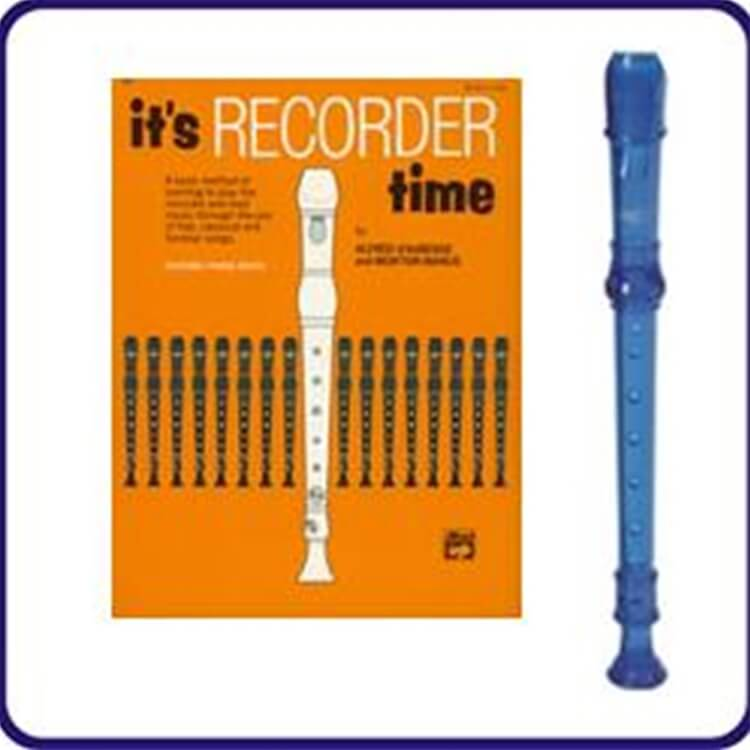 Blue Cantos Recorder & It's Recorder Time Book